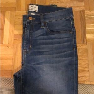 JCrew jeans with small tear high rise